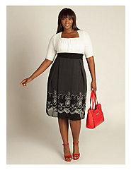 Hayleigh Dress in Ivory/Black by IGIGI by Yuliya Raquel