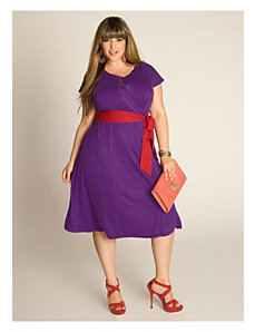 Kelsey Wrap Dress in Grape by IGIGI by Yuliya Raquel
