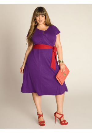 Kelsey Wrap Dress in Grape