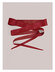 Obi Belt in Red by IGIGI by Yuliya Raquel