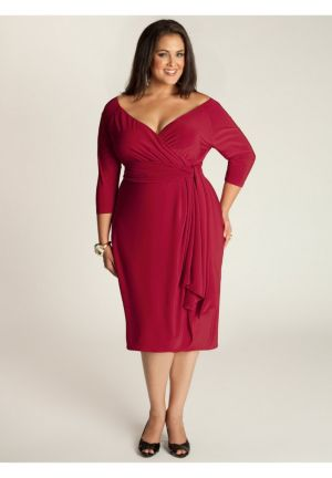 Marcelle Cocktail Dress in Red