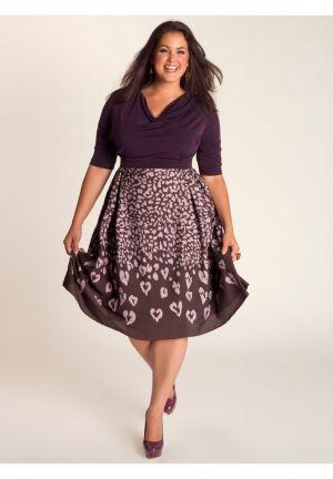 Jane Vintage Dress in Violet