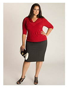 Michaela Curvy Pencil Skirt in Charcoal by IGIGI by Yuliya Raquel