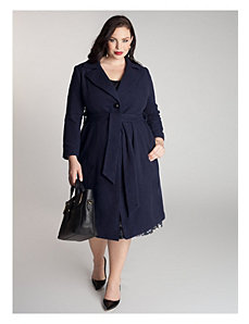 Hanna Coat in Navy Blue by IGIGI by Yuliya Raquel