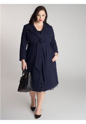 Hanna Coat in Navy Blue