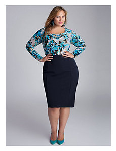 Monroe Skirt in Navy Blue by IGIGI
