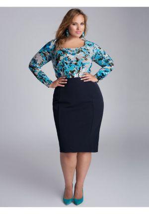 Monroe Skirt in Navy Blue