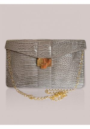 Monaco Clutch in Dove
