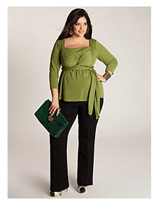 Ashley Infinity Tunic in Moss Green by IGIGI by Yuliya Raquel