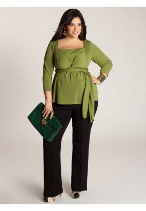 Ashley Infinity Tunic in Moss Green