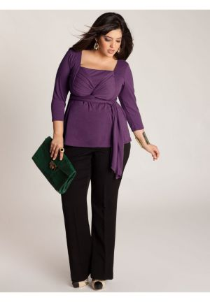 Ashley Infinity Tunic in Grape