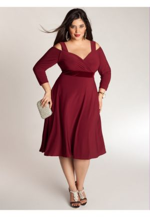 Siren Dress in Burmese Ruby