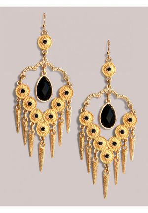 Reina Earrings in Oynx