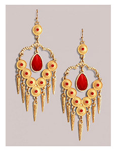 Reina Earrings in Crimson by IGIGI by Yuliya Raquel