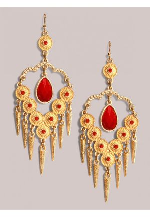 Reina Earrings in Crimson