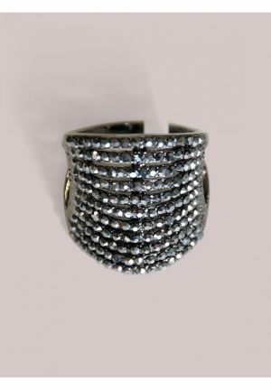Zoya Ring in Hematite