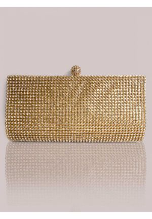 Fiona Clutch in Gold