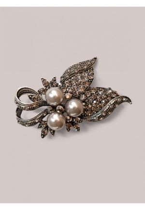 Deidre Brooch in Pewter