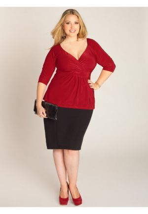 Arabelle Top in Crimson