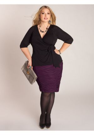 Shura Draped Skirt in Passionate Purple