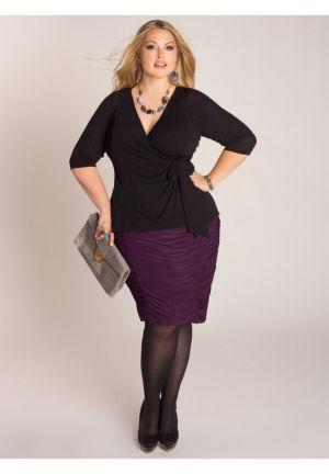 Shura Draped Skirt in Passionate Purple