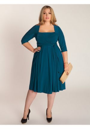 Ninelle Dress in Blue Coral