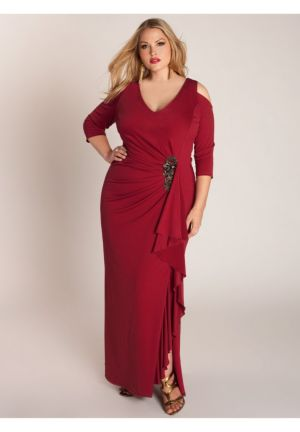 Margarita Gown in Crimson