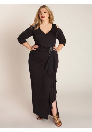 Margarita Gown in Caviar Black