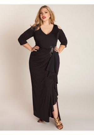 Margarita Gown in Caviar Black