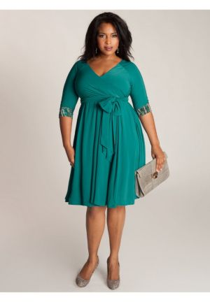 Jaqueline 2-in-1 Dress in Jade