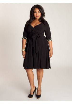 Jaqueline 2-in-1 Dress in Black