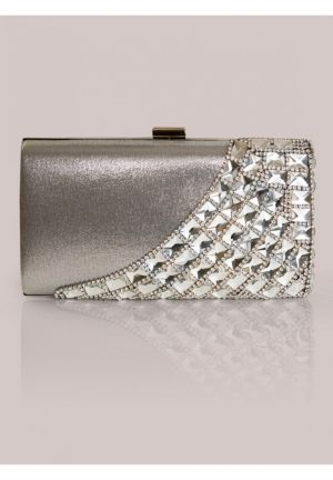 Holly Clutch in Silver