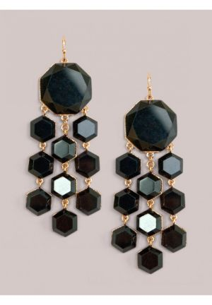 Shayla Earrings in Onyx