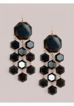 Shayla Earrings in Onyx