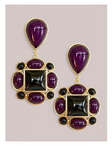 Tory Earrings in Amethyst by IGIGI by Yuliya Raquel
