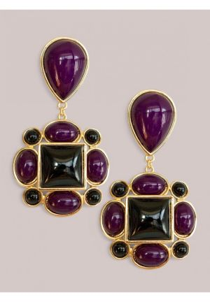 Tory Earrings in Amethyst