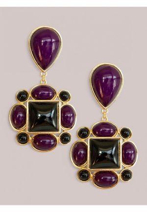 Tory Earrings in Amethyst