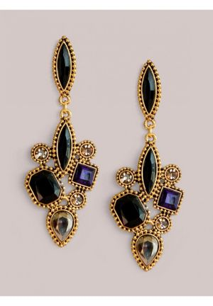 Aria Earrings in Onyx Multi