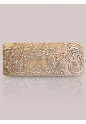 Winona Clutch in Gold