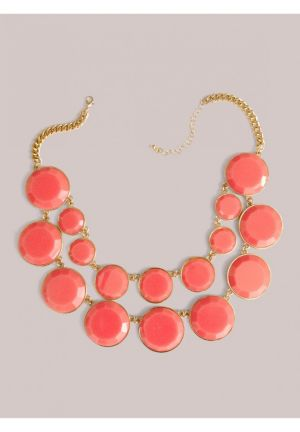 Stassi Necklace in Coral