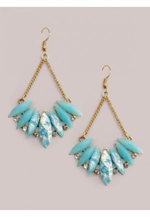 Lois Earrings in Blue Opal