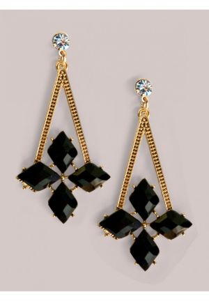 Brandi Earrings in Onyx