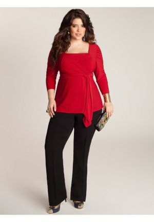 Luella Infinity Tunic in Scarlet