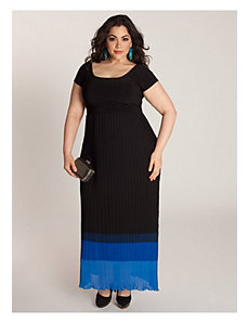 Bernadette Maxi Dress in Black/Lapis by IGIGI by Yuliya Raquel