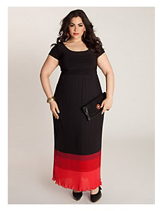 Bernadette Maxi Dress in Black/Rouge by IGIGI by Yuliya Raquel