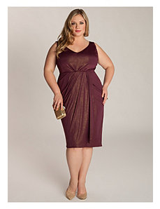 Nora Dress in Gold/Plum by IGIGI