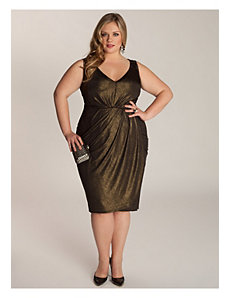Nora Dress in Black/Gold by IGIGI