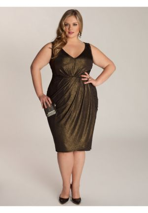 Nora Dress in Black/Gold