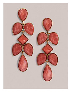 Tammi Earrings in Coral by IGIGI by Yuliya Raquel