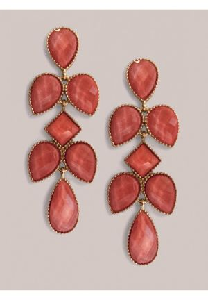 Tammi Earrings in Coral